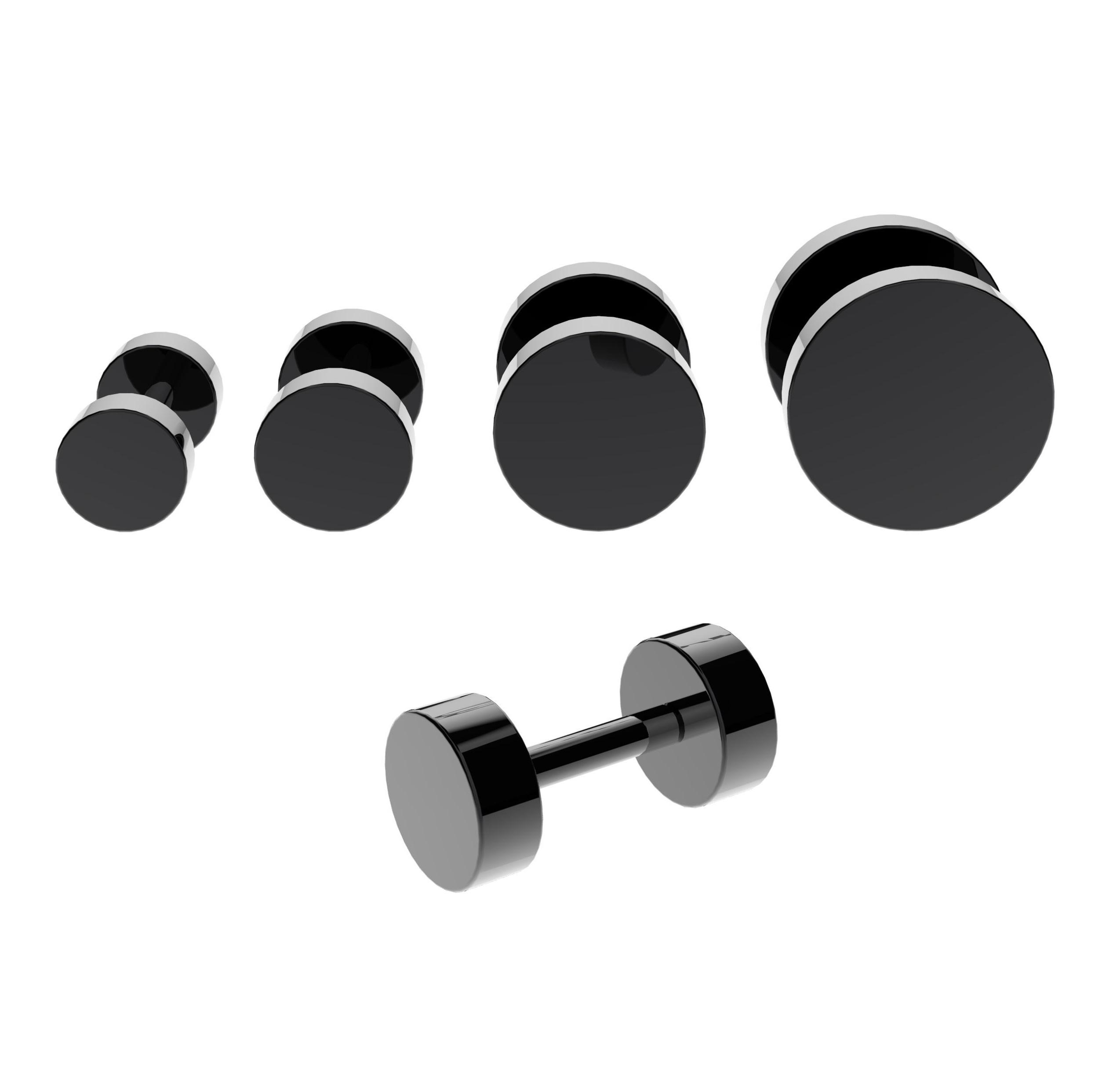 black fake cheater plugs vault 101 limited free uk delivery. Black Bedroom Furniture Sets. Home Design Ideas