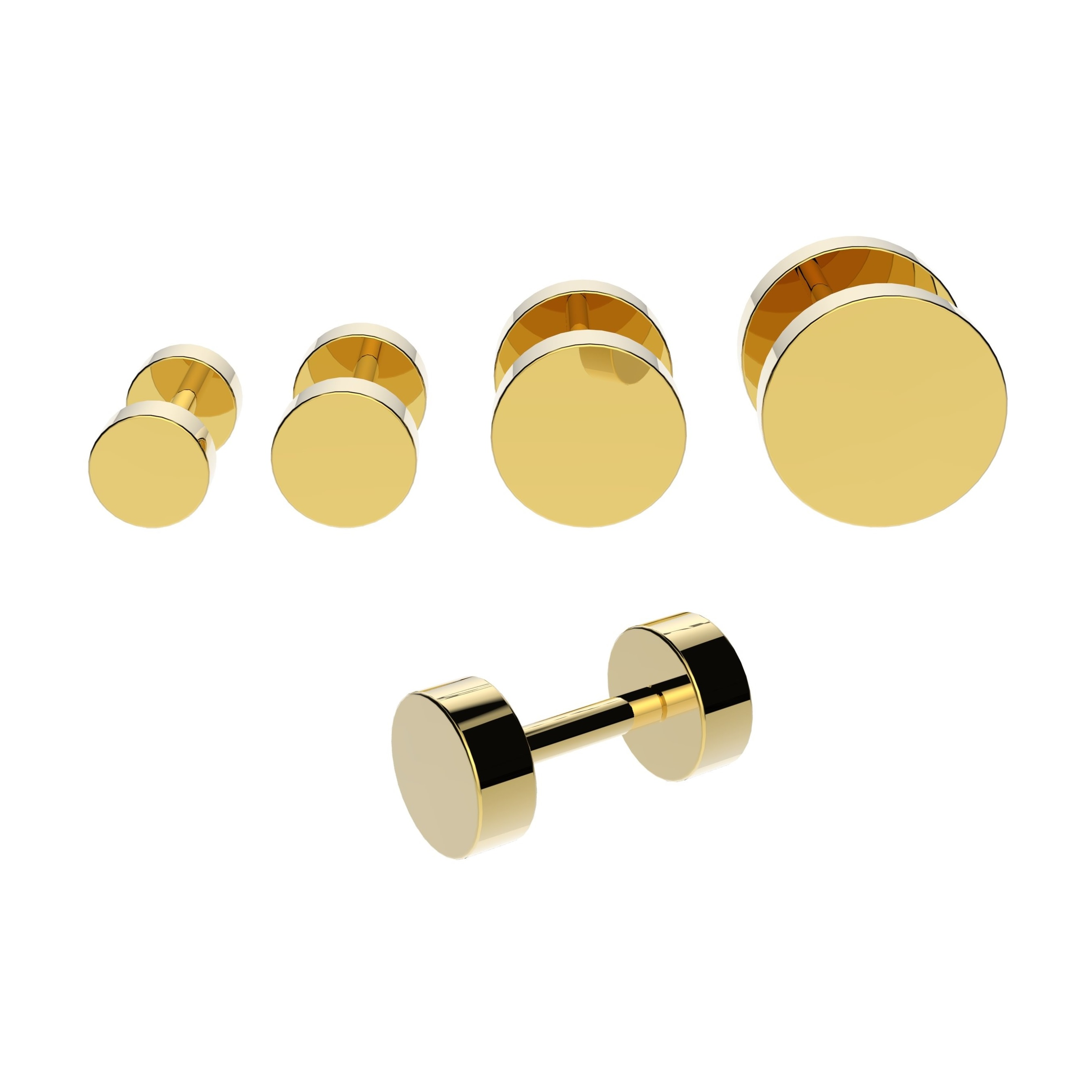 gold fake cheater plugs vault 101 limited free uk deliveryc. Black Bedroom Furniture Sets. Home Design Ideas