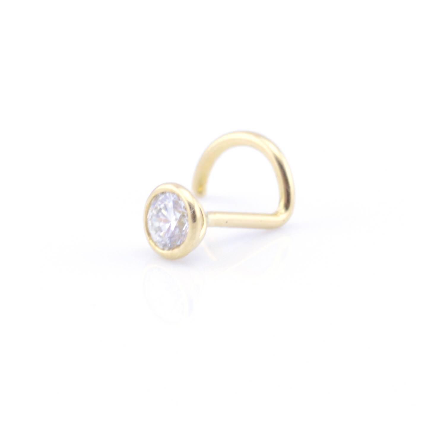 Gold Platinum Diamond Nose Stud Vault 101 Limited Free Delivery