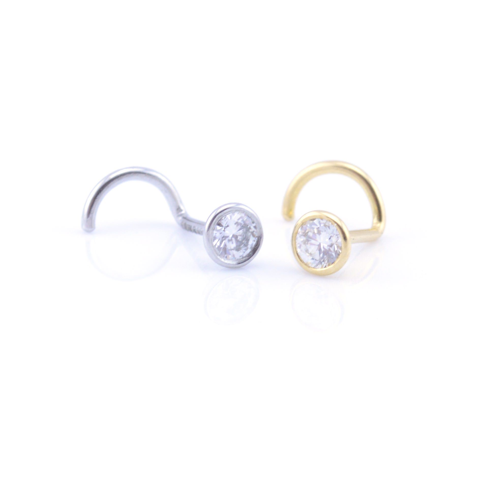 3776724a6 Gold, Platinum & Diamond Nose Stud | Vault 101 Limited | Free Delivery